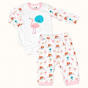 Pijama-Bebe-Pima-Basics-Flamingo-Cookie-Dreams