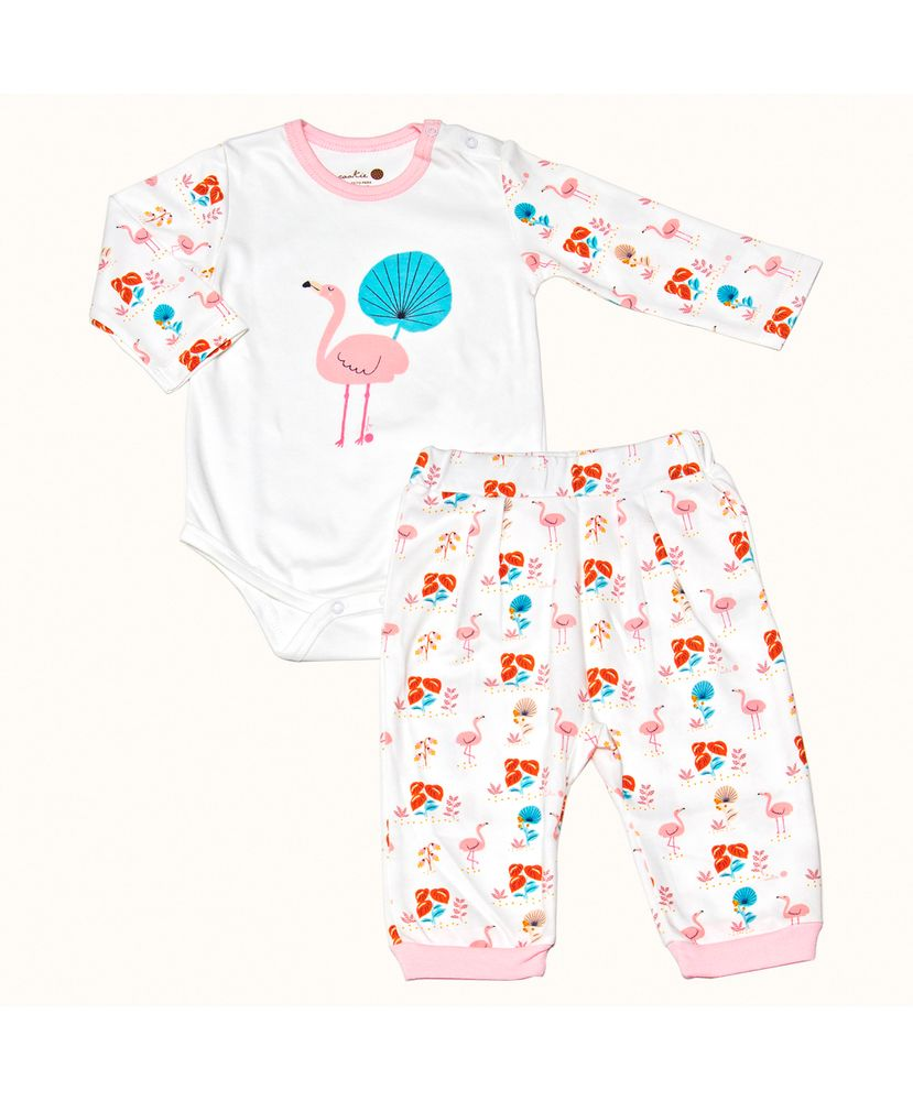 Pijama-Bebe-Pima-Basics-Flamingo-Cookie-Dreams