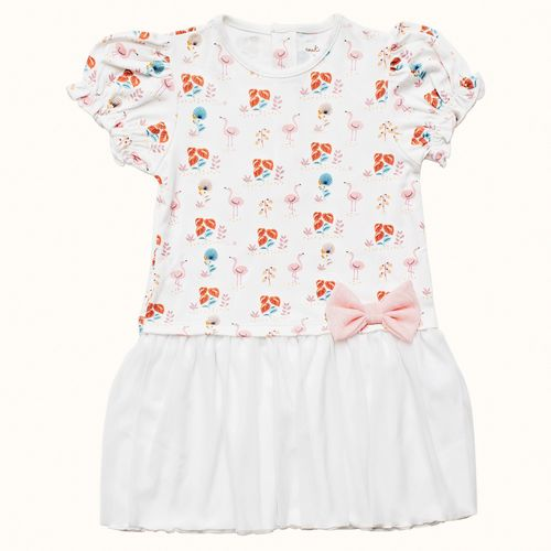 Camisola-Infantil-Pima-Mathilda-Flamingo-Cookie-Dreams