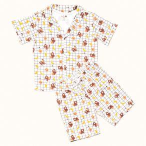 Pijama-Infantil-Pima-Sweet-William-Bananas-Cookie-Dreams