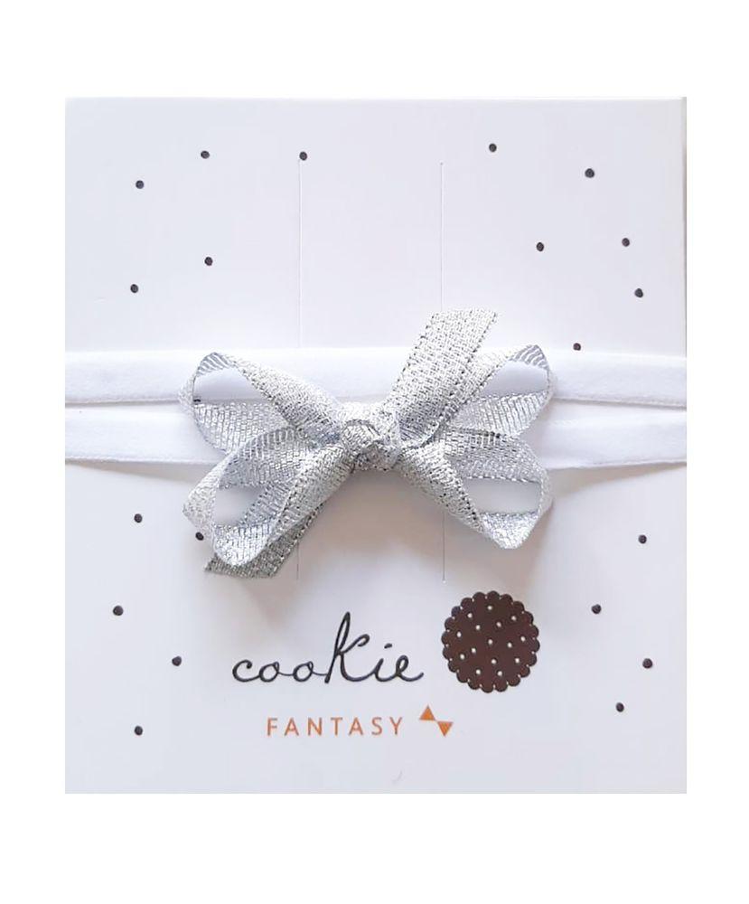 Faixinha-Bebe-Laco-Prateado-Metalico-Cookie-Dreams