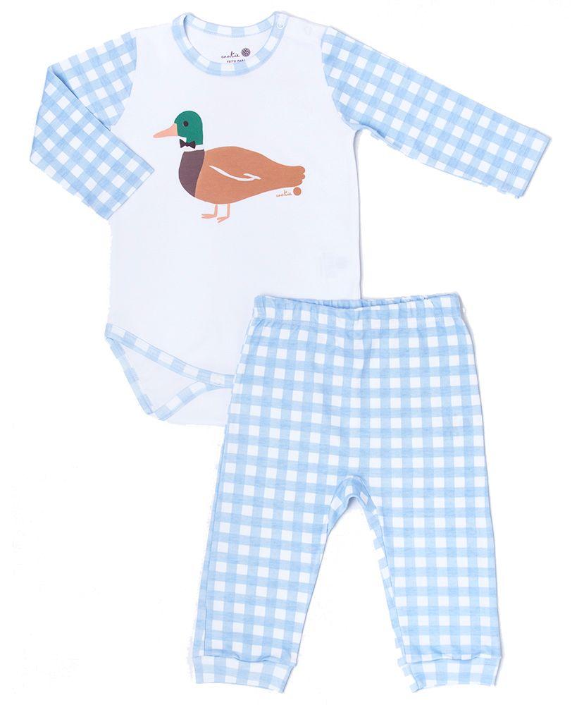 Pijama-Bebe-Algodao-Pima-Basics-Vichy-Azul-Cookie-Dreams-Pijamas