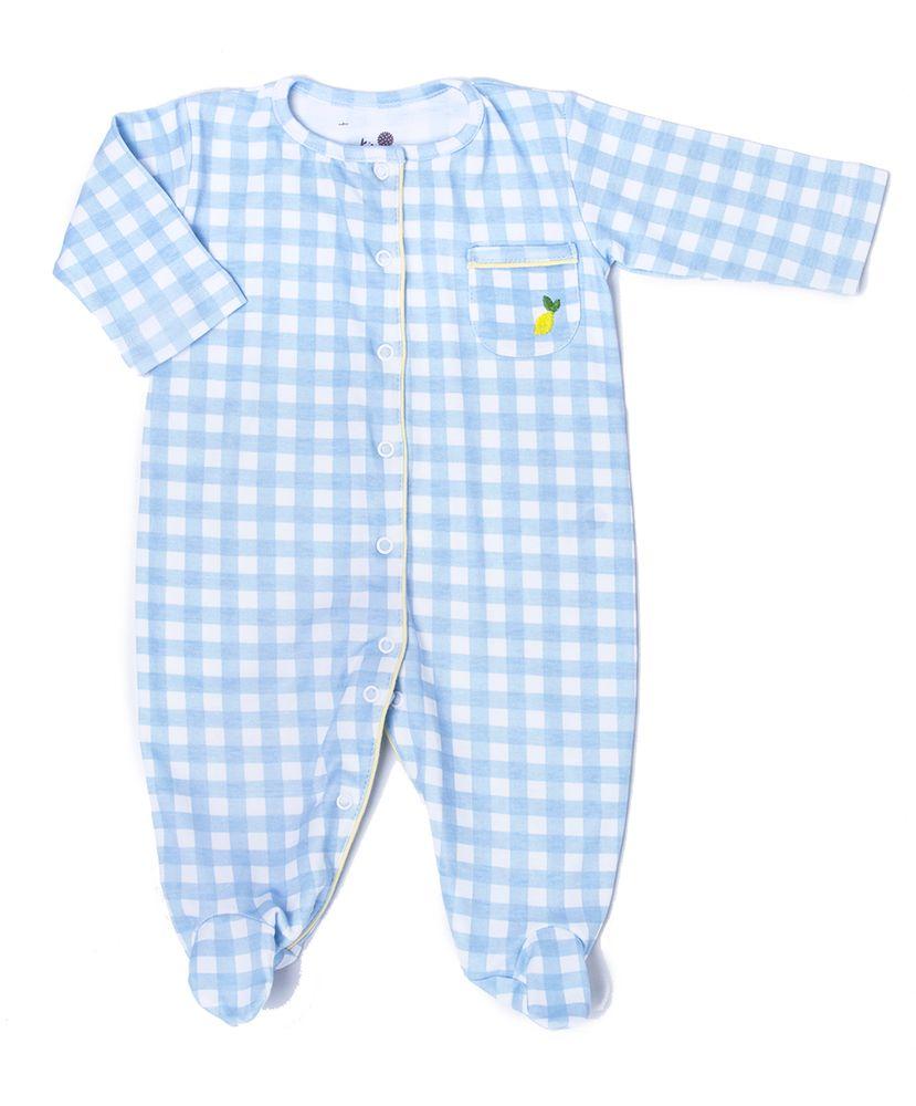 Macacao-Bebe-Algodao-Pima-Amandito-Vichy-Azul-Limao-Siciliano-Cookie-Dreams-Pijamas