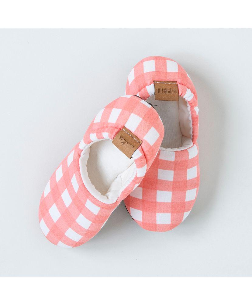 Pantufa-Infantil-Algodao-Pima-Vichy-Coral-Cookie-Dreams-Pijamas