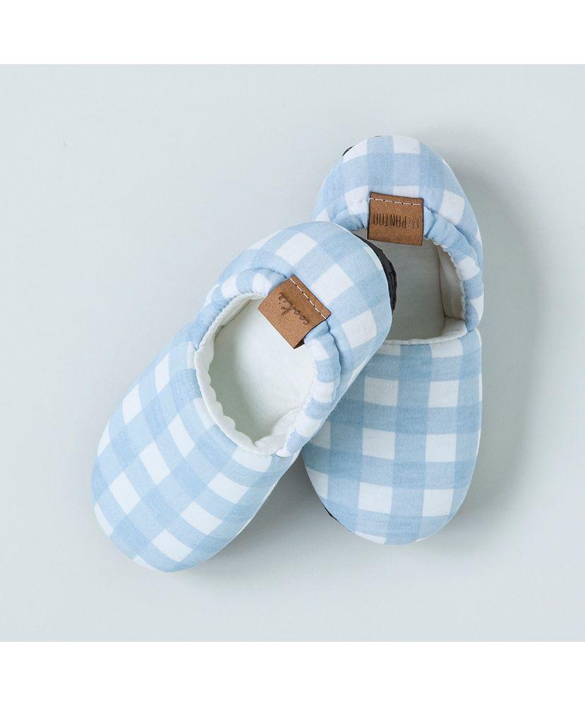 Pantufa-Infantil-Algodao-Pima-Vichy-Azul-Cookie-Dreams-Pijamas