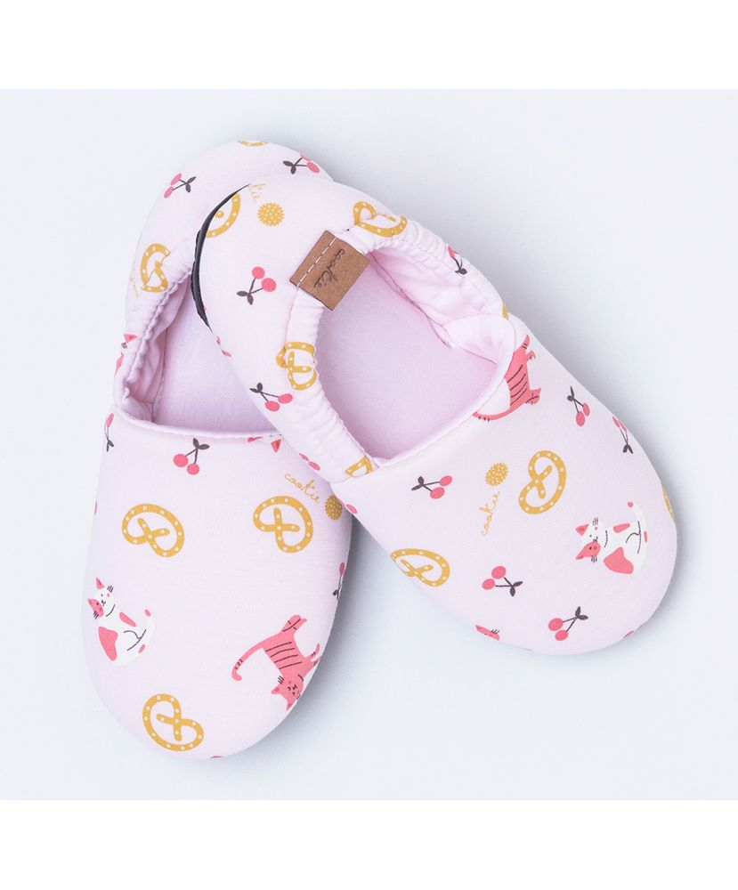 Pantufa-Infantil-Algodao-Pima-Cat-s-and-Cherries-Cookie-Dreams-Pijamas