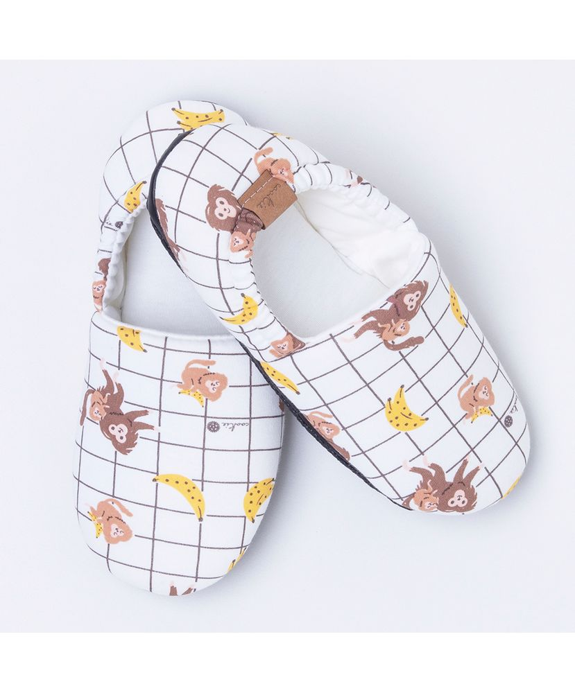 Pantufa-Infantil-Algodao-Pima-Bananas-Cookie-Dreams-Pijamas