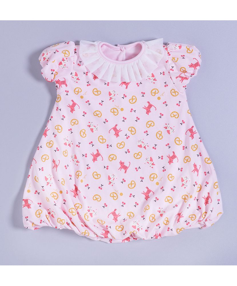 Camisola-Infantil-Algodao-Pima-Balone-Cat-s-and-Cherries-Cookie-Dreams
