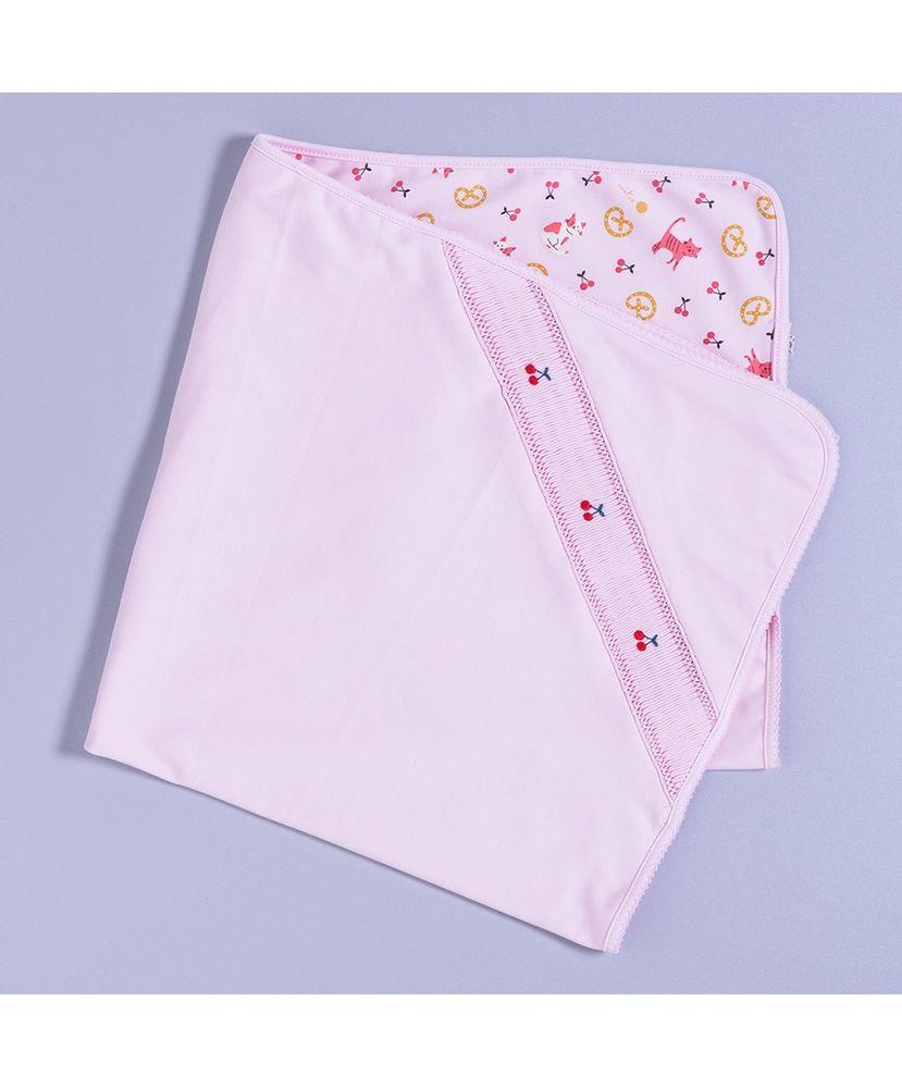 Manta-Bebe-Algodao-Pima-Cerejas-Bordado-Manual-Cookie-Dreams-Pijamas