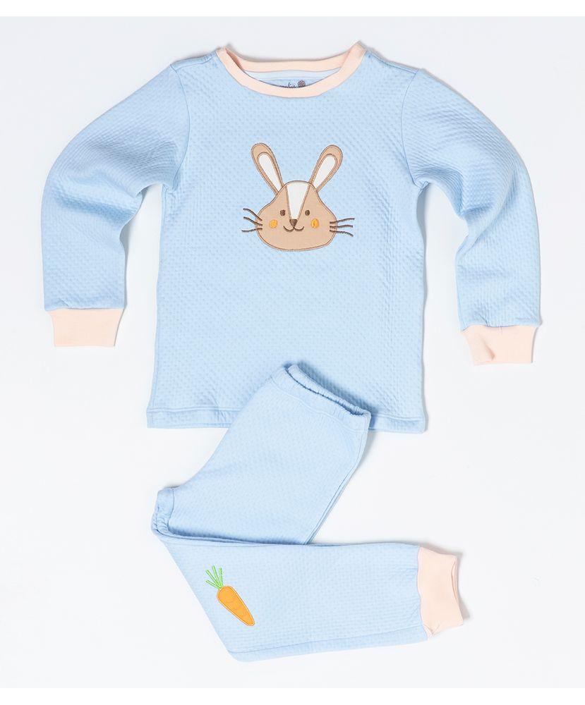 Pijama-Infantil-Winter-Azul-Coelhinho