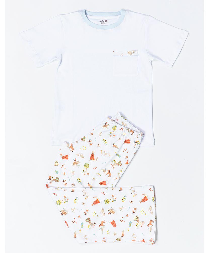 Pijama-Infantil-Pima-Mulberry-Farm