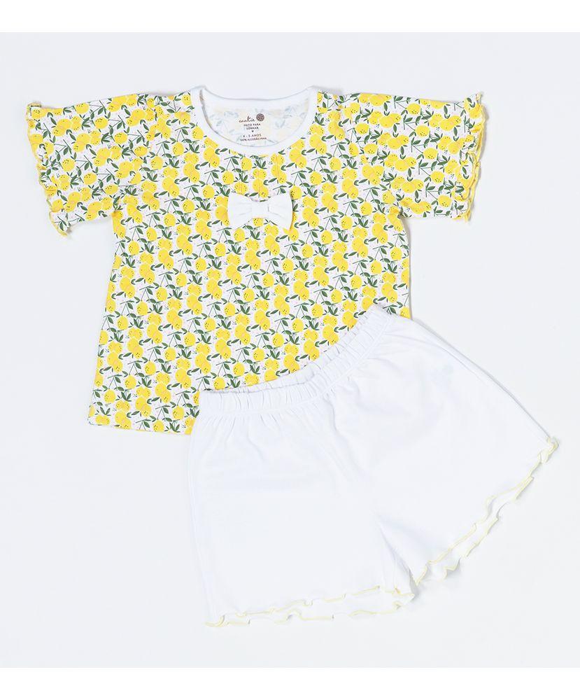 Pijama-Infantil-Pima-Daisy-Limao-Siciliano